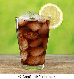 ガラス, 立方体, 氷, コーラ