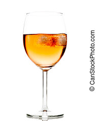 ガラス, 立方体, 氷, 飲みなさい, ワイン