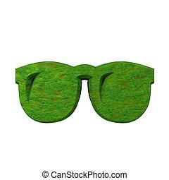 ガラス, 草, 3d