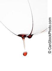 ガラス, 落ちる, 低下, ワイン