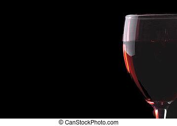ガラス, 赤, 低いキー, ワイン