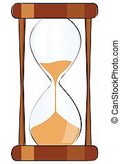 ガラス, 隔離された, イラスト, 時間