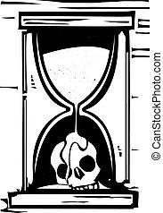 ガラス, 頭骨, 時間