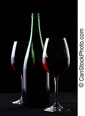 ガラス, 黒, 2, ワイン