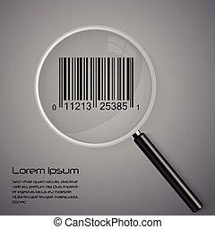 ガラス, barcode, 拡大する