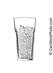 ガラス, cubes., 白, 隔離された, 氷