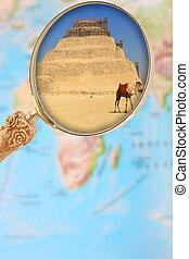 ガラス, saqqara, 拡大する, 地図