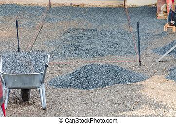 ガレージ, stones., 私道, 舗装