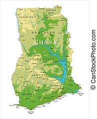 ガーナ, 地図, 健康診断