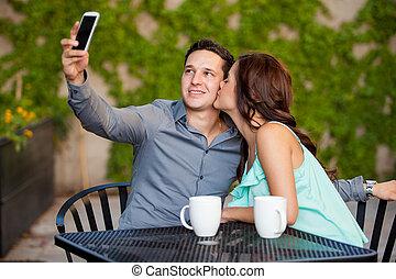 ガールフレンド, 写真, 取得, 私