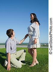 ガールフレンド, 提案, ボーイフレンド