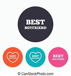 ガールフレンド, 最も良く, icons., ボーイフレンド