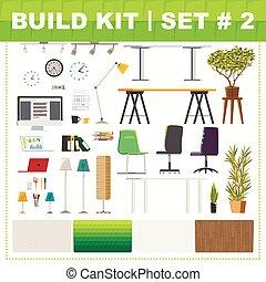 キット, 2, 建造しなさい, オフィス家具