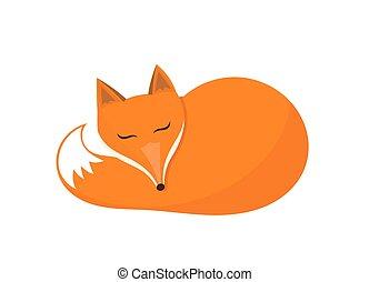 キツネ, icon., 睡眠