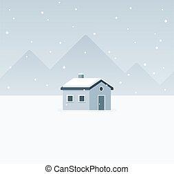 キャビン, 冬の景色