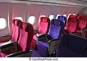 キャビン, 飛行機, 席