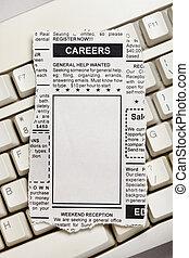 キャリア, 広告