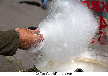 キャンデーの繭綿, 機械, ∥で∥, 白, candyfloss