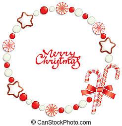 キャンデー, クリスマス, フレーム