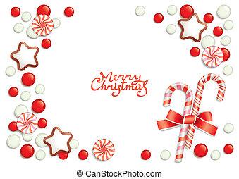 キャンデー, クリスマス, 背景