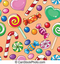 キャンデー, パターン, seamless
