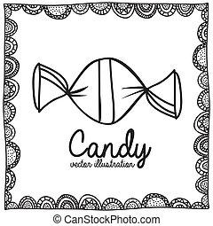 キャンデー, 図画