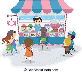 キャンデー 店