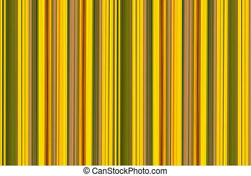 キャンバス, パターン, 抽象的, 黄色, 明るい, 緑, レトロ, 背景, しまのある