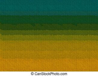 キャンバス, 壁, 抽象的, 黄色, 木, 緑, 手ざわり, 背景