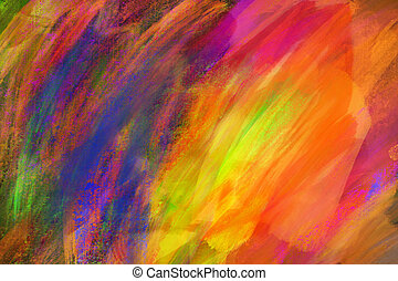 キャンバス, 抽象的, ペンキ, オイル, 手ざわり, バックグラウンド。, カラフルである