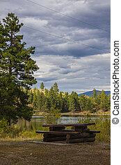 キャンプ場, 荒野