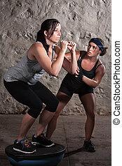 キャンプ, 女性, ブーツ, 2, バランス, 訓練