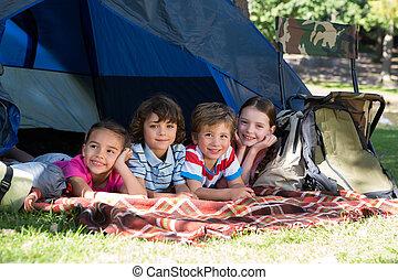 キャンプ 旅行, 兄弟, 幸せ