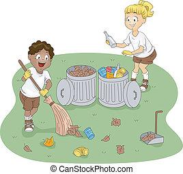 キャンプ, 清掃
