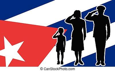 キューバ, 兵士, 家族, 挨拶