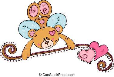 キューピッド, バレンタインデー, 熊, テディ