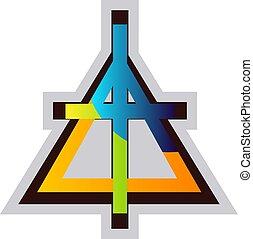キリスト教徒, シンボル, イラスト, 多色刷り, ベクトル, 背景, 教会, 白, reformed