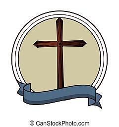 キリスト教徒, シンボル, 紋章, 交差点, ラウンド
