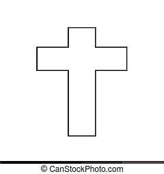 キリスト教徒, デザイン, 交差点, イラスト, アイコン