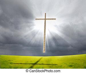 キリスト教徒, 交差点, に対して, ∥, 空