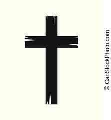 キリスト教徒, 交差点, アイコン