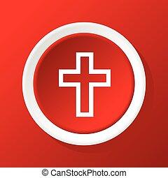 キリスト教徒, 交差点, 赤, アイコン