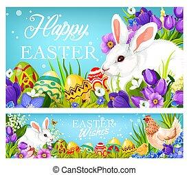 キリスト教徒, 卵, 挨拶, 休日, イースターうさぎ