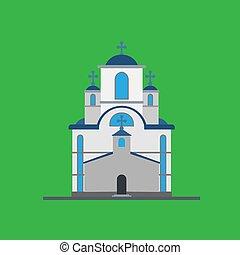 キリスト教徒, 外面, 概念, ベクトル, design., 神, イラスト, place., アイコン, 宗教, 教会, 建築, チャペル, イエス・キリスト, 建物, 家, カトリック教, タワー
