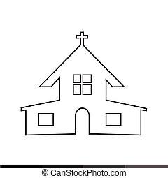 キリスト教徒, 教会, デザイン, イラスト, アイコン