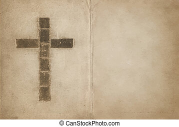 キリスト教徒, 本, 古い, 交差点