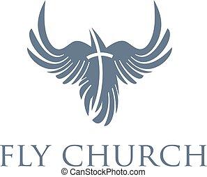 キリスト教徒, 概念, 鳥, 交差点