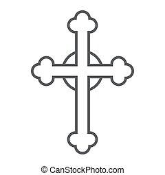 キリスト教徒, 線である, 印, パターン, 交差点, 宗教, バックグラウンド。, ベクトル, 薄くなりなさい, 教会, グラフィックス, アイコン, 線, 白