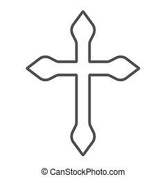 キリスト教徒, 線である, 宗教, 印, パターン, 交差点, バックグラウンド。, ベクトル, 薄くなりなさい, グラフィックス, アイコン, 線, 白, カトリック教, 十字架像