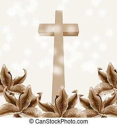 キリスト教徒, 花, ユリ, 交差点